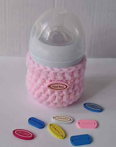Handmade Baby Bottle Insulator Bag Sleeve for 125ml - Baby Pink