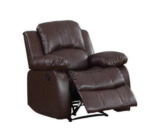 Homelegance Resonance 83' Bonded Leather Double Reclining Sofa, Brown