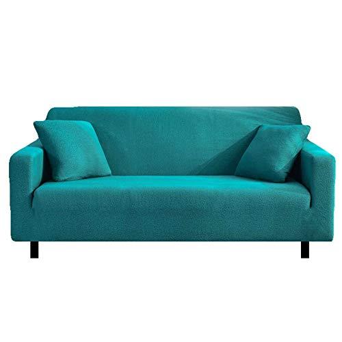 HALOUK Funda Elástica para Sofá Love Seat,Funda de Sofá de 1/2/3/4 Plaza Impermeable 1 Pieza Lavable Antideslizante Protector de Muebles para Sala de Estar-Verde-1 Plaza (90-140cm)