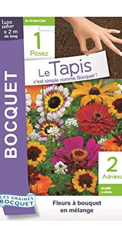 Les Graines Bocquet- Tapis de Graines de Fleurs à bouquet en mélange- Graines potagères à semer