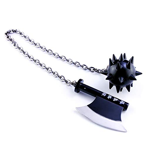 LINLUO Mini Himejima Gyoumei Brazos Metal Escala 1/2 Llavero Modelo Martillo Arma Acción Figura Artes Juguetes Decoración de Mesa