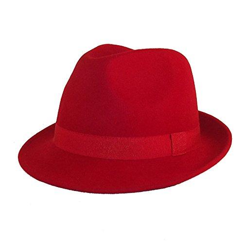 Chapeau-tendance - Chapeau Trilby Rouge Maccorse - 57 - Homme