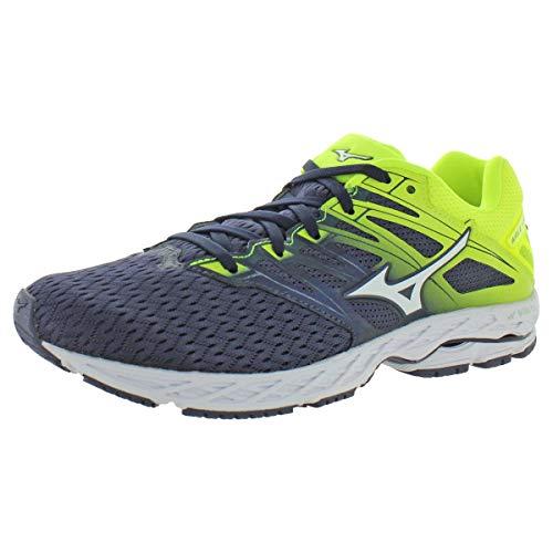 Mizuno Men's Wave Shadow 2 Running Shoe, Graphite-White, 15 D US
