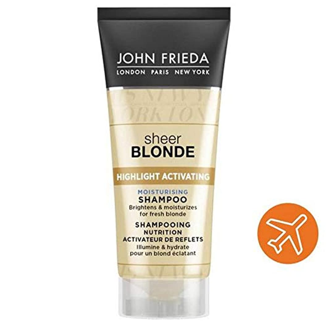浸した要求嘆願[John Frieda ] ジョン?フリーダ保湿旅行シャンプー膨大な金髪50ミリリットルを活性化ハイライト - John Frieda Highlight Activating Moisturising Travel Shampoo Sheer Blonde 50ml [並行輸入品]