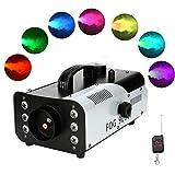 4YANG Máquina de Humo 900W, Luces LED de 7 Colores, Máquina de Humo de Escenario Mando a Distancia...