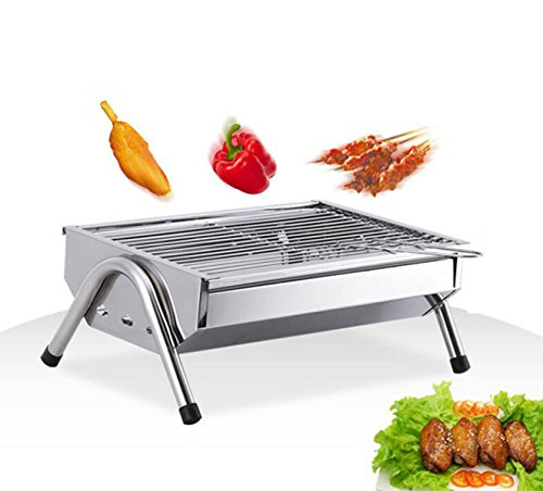 ZXIAQI Folding Barbecue Grill Barbecue en Acier Inoxydable