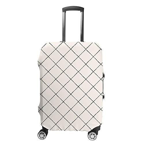 Gepäckabdeckung, verdickt, waschbar, quadratisches Gitter, Retro, Polyester, Fibe, elastisch, faltbar, leicht, Reisekoffer-Schutz