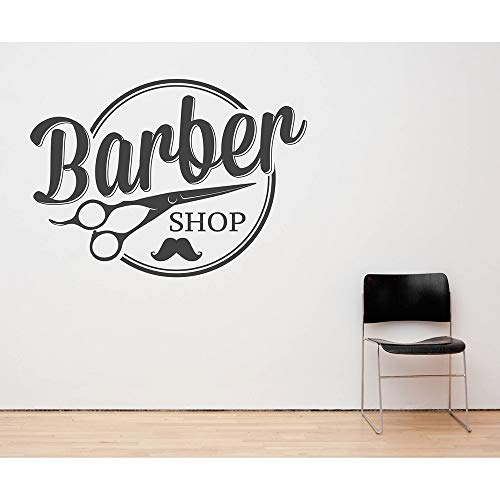 Tianpengyuanshuai Barber Shop muur raam decoratie applicatie verwijderbare vinyl sticker kapper schaar kunststicker