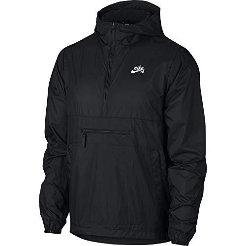 Nike SB Skate Packable Anorak Men's Jacket - AO0296 (Black/White, Medium)