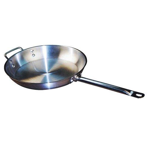 Winware Stainless Steel 14 Inch Fry Pan
