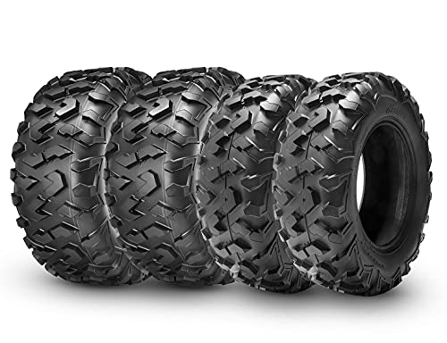 HALBERD 6PLY ATV Tires, 25x8-12 & 25x10-12 ATV Tires, All Terrain 25x8x12 25x10x12 Trail Sand ATV UTV Off-Road Tires(Set of 4, Tubeless)