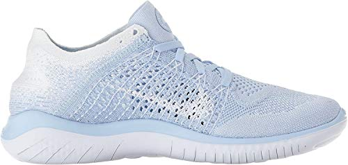 Nike Women's Free Rn Flyknit 2018 Running Shoes, Black (Black/White 001), 4 UK