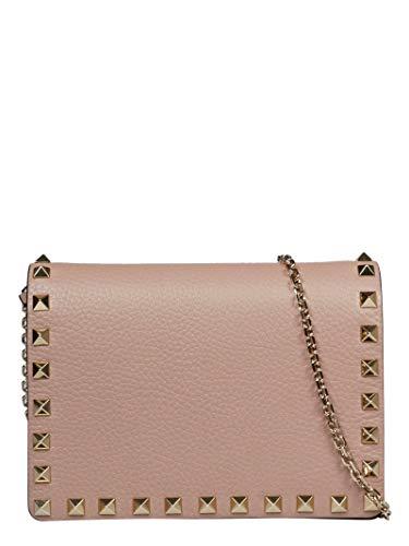 Luxury Fashion | Valentino Garavani Dames TW2P0249VSHP45 Roze Leer Schoudertassen | Seizoen Permanent