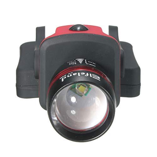 Linterna de cabeza de luz suave resistente al agua, 2000 lúmenes, Q5,...