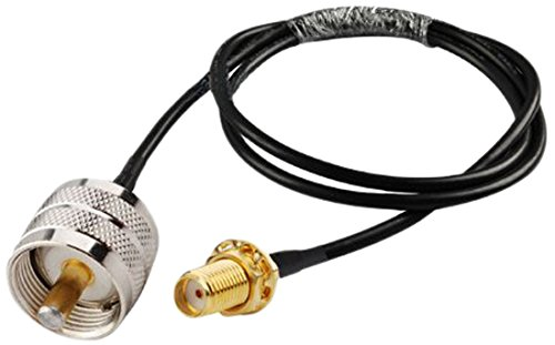 MPD Digital r58-smaf-uhf-20in- RF Coaxial Cable SMA Female to UHF PL259 Male RG58 Coax with PL-259