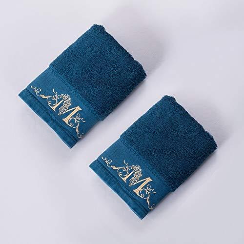 Tcaijing handdoek badset hoge kwaliteit 100% lang nietje katoen (40 * 80cm*2) super zacht super absorberend 5 sterren hotel kwaliteit 3 kleuren optioneel voor familie badkamer zwembad Fitness Blauw