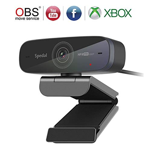 Webcam 1080P 60fps, Autofocus Webcam for OBS Gaming Conferencing, USB Streaming Camera with Dual Microphones for Video Calling and Recording, Desktop or Laptop Web Camera for Mac YouTube Xbox Skype