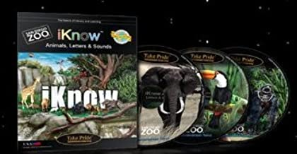 Learn to Listen , Read , Speak and Communicate Using Animals : I Know Animals , Letters & Sounds - Educational 4 Disc Box Set