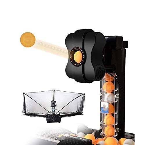 FQCD Tischtennisball fangen Net Tischtennis Roboter Multi-Engel automatische Ping-Pong-Maschine mit 36 verschiedenen Spin-Bälle for Üben Home School Gym