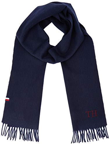 Tommy Hilfiger Hilfiger Wool Scarf Sciarpa, Blu (Blue Cjm), Unica (Taglia Produttore: OS) Uomo