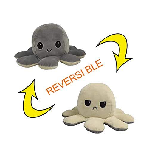 Oktopus Kuscheltier Zum Wenden Nette Tintenfisch Plüsch reversible weiche weiche kreative Spielzeug Geschenke für Kinder Familie Freunde Spielzeug Tintenfisch Doll Flip doppelseitige Kuscheltierpuppe