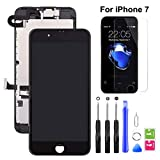 hoonyer display per iphone 7 touch screen lcd digitizer schermo 4,7 utensili inclusi(con fotocamera, altoparlante, sensore flex) nero