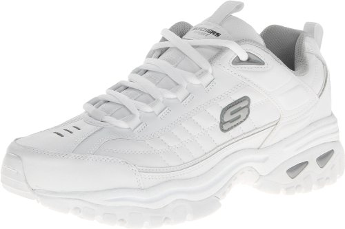 Skechers Men's Energy Afterburn Lace-Up Sneaker,White,10.5 M US