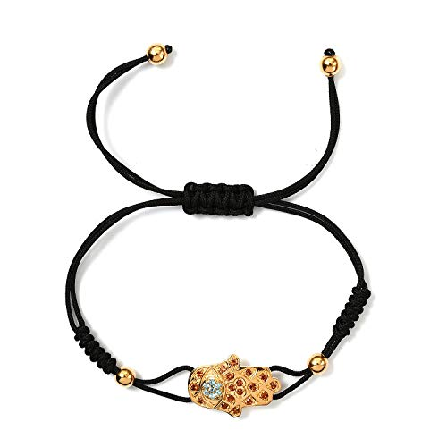GP Garnet and Blue Topaz Shamballa Bracelet for Women in 14ct Gold Plated 925 Sterling Silver Designer Gift for Wife/Girl Friend/Mother Size 9.5 Inches, TCW 1.96ct