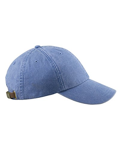 Adams 6-Panel Low-Profile Washed Pigment-Dyed Cap (AD969) Periwinkle, OS
