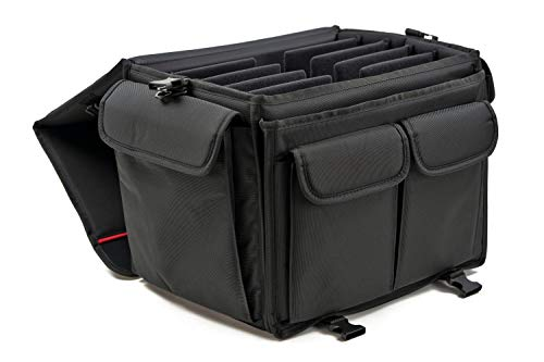 MCY MXLT-CB Laptop Storage Carry Bag Up To 5 Laptops for Schools Office Gaming Laptops - Black, 16.5x12.5x11.5 inches