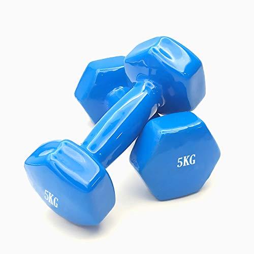 EUROXANTY Pack 2 Mancuernas | Mancuernas de entrenamiento | Revestimiento vinilo | Entrenamiento en casa | Accesorio Fitness | Antideslizante | 10kg