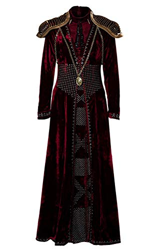 Mujer Disfraz de Cosplay de Cersei Lannister Halloween TV Cosplay Costume Dress Vestido Largo de Reina Medieval, XS