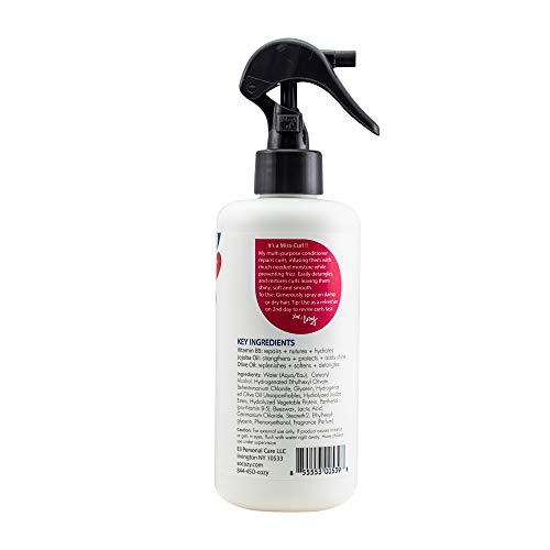SoCozy Curl Spray   Leave-In Conditioner   For Kids Hair   Detangles and Restores Curls   8 fl oz   No Parabens, Sulfates, Synthetic Colors or Dyes