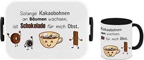 Mijn Zwergenland broodtrommel Mepal Take A Break Large Big Box & kop wit motief chocolade