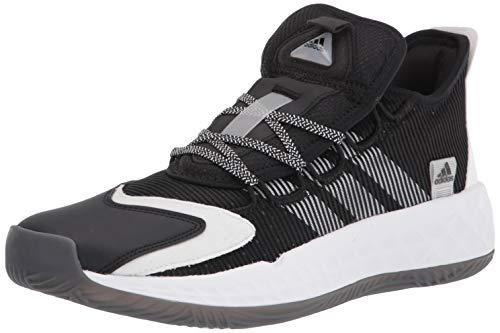 adidas unisex adult Coll3ctiv3 2020 Low Basketball Shoe, Black/White/Black, 10 US