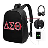De-Lta Sig-Ma Th-ETA USB Backpack Carry On Bags 17 Inches Laptop Backpack for Travel School