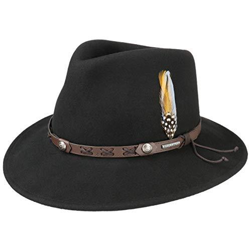Stetson Chapeau Vail Outdoor VitaFelt Hiver Chapeaux d´Exterieur (XL (60-61 cm) - Noir)