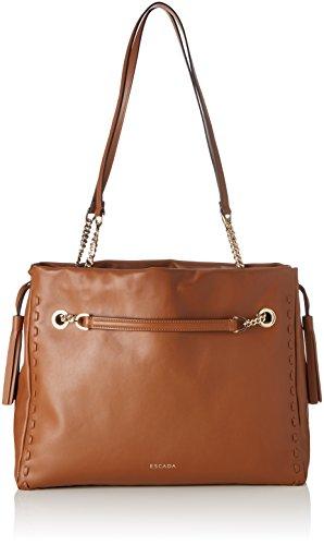Escada- Ab763, Shoppers y bolsos de hombro Mujer Marrón (Tan) 15x32.5x36 cm...