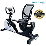 Welcare WC1588 Recumbent Exercise Bike with Adjustable Seat, Magnetic Resistance, Pulse Monitor and LCD Display (Free Installation & Demo)