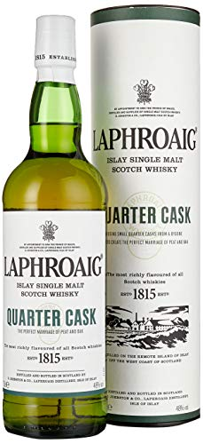 Laphroaig Quarter Cask Islay Single Malt Scotch Whisky, mit Geschenkverpackung, in Quarter Casks gereift, 48% Vol, 1 x 0,7l