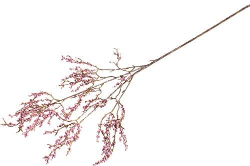 DPI künstlicher weihnachtlicher Beerenzweig mit Glitzer (rosee)