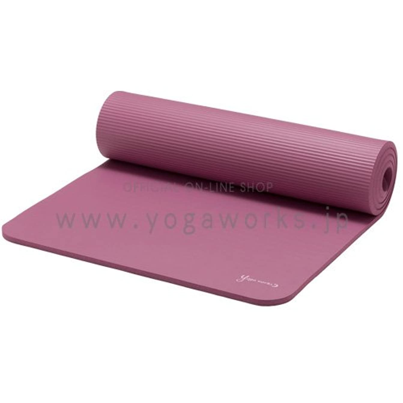 肉ピン酸っぱいヨガワークス(Yogaworks) ピラティスマット 12mm マルベリー YW-A150-C014