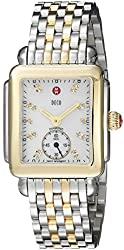 powerful MICHELE MWW06V000042 Diamond Accented Stainless Steel Deco 16 Ladies Watch
