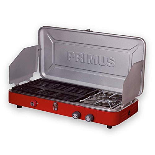 Primus | Profile Dual, Propane Two Burner Gas Camping Stove and Grill