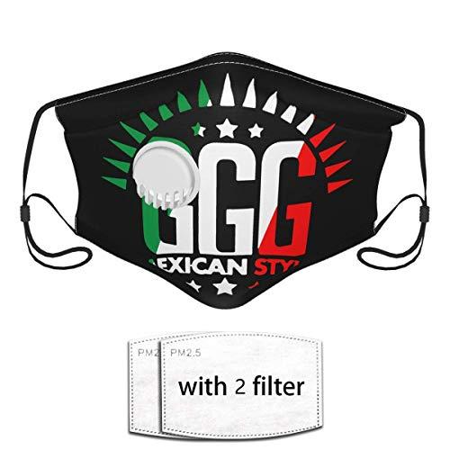 GGG Boxergesicht im mexikanischen Stil Co_V-Er Frauen- und Männergesicht Co_V-Er mit Atemventil und Filter