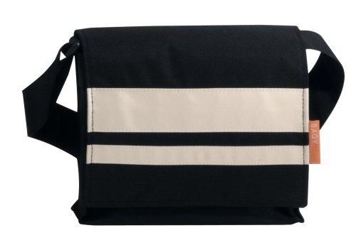 BagyMANIA Streetbag YB 190006 nylon, ca. 25 x 24 cm, zwart/wit.