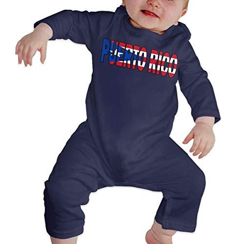 TJKK - Body de manga larga para bebé, diseño de bandera de Puerto Rico 1 color 6 Meses