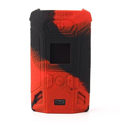 CEOKS for Vaporesso switcher 220W mod case, Protective Silicone case Skin Rubber Cover modshield Sleeve wrap for vaporesso switcher kit 220W mod Box Anti-Slip & Durable (Black/Red)