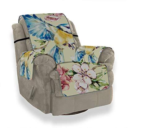 Yushg Retro Sparrow Bird Flower Green Leaf Sofa Liegebezug Soft Chair Schonbezug...