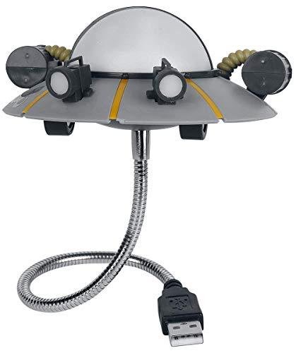 Paladone Products Lampara USB rick & morty ricks ship, gris